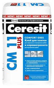 <b>Клей для плитки</b> и камня <b>Ceresit</b> СМ 11 Plus 25 кг — купить по ...