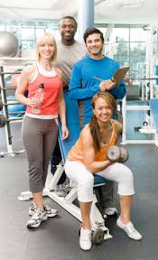 picture of a group of certified fitness professionals and trainers