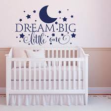 dream big little one wall sticker diy e wall art for kids room and nursery home decor stickers for kids walls stickers for room walls from jy9146