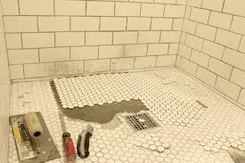 the grit and polish bathroom shower floor re tile