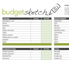 Household Budget Forms To Print Platte Sunga Zette