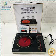 Bảo Hành 12Tháng Bếp hồng ngoại bếp điện quang cảm ứng 2 vòng nhiệt Deskoe  6802 Hàng chính hãng