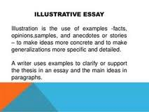 example and illustration essay illustration essay samples action  example of illustrative essay example and illustration essay