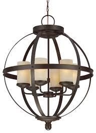 sfera 6 light chandeliers autumn bronze