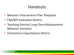 behavior intervention plan template mu center for sw pbs college of education university of missouri