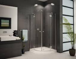 bathroom semi frameless pivot shower door track assembly kit in nickel framed sliding shower enclosure