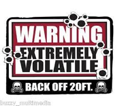 Details About Warning Extremely Volatile Back Off Shirt Breaking Bad Snarky T Small 5x