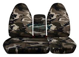 ford f 150 60 40 high back tan and beige camo seat covers