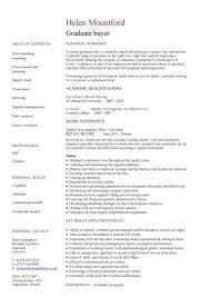 Senior Buyer Resume Inspiration Procurement Buyer Resume Sample From Graduate Cv Template Student