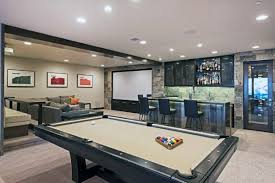 Home game room Gaming Setup Upscale Mens Home Game Room With Movie Theatre Design Next Luxury 60 Game Room Ideas For Men Cool Home Entertainment Designs