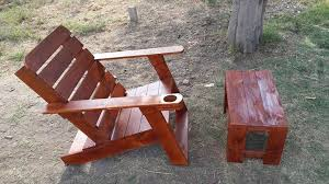 pallet adirondack chair plans. Diy Pallet Adirondack Chair Instructions And Small Table Plans E