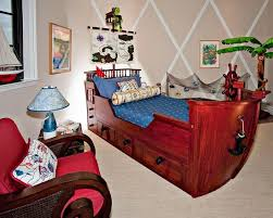 room floating bed overboard with the floating ship pirate ship kids bedroom design