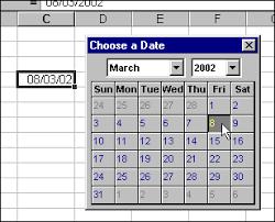 Vba Tips A Pop Up Calendar For Excel