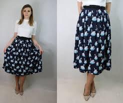 Handmade Skirt Size Chart Animal Print A Line Skirt Handmade Skirt Paneled Skirt Circle Skirt