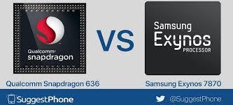 Samsung Exynos 7870 Vs Qualcomm Snapdragon 636 Detailed