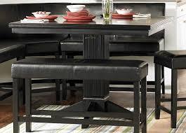 Dining Room Corner Black Dining Room Set With Bench Unique Black