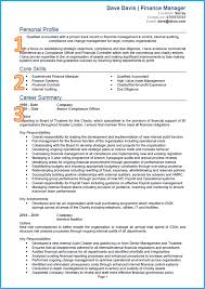 example of a good cv finance and accounting cv