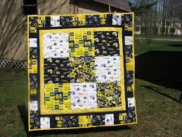 9 best Projects to Try images on Pinterest | Michigan, Sports ... & University of Michigan GO TEAM Baby Quilt by LemonadeQuilts, $65.00 Adamdwight.com