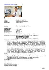 Piping Designer Resume Format Piping Designer Cv