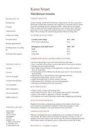 Resume Hair Stylist Hair Stylist 3 Resume Templates Sample Resume Resume Resume