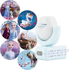 Frozen Night Light Projector Projectables Frozen 2 Led Night Light 6 Image Plug In Dusk To Dawn Ul Listed Scenes Of Elsa Anna And Olaf On Ceiling Wall Or Floor Ideal For