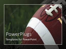 Football Powerpoint Template PowerPoint Template Closeup Of American Football On Grass With 24