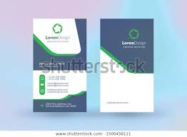 Doublesided Vertical Business Card Template Vector Stock