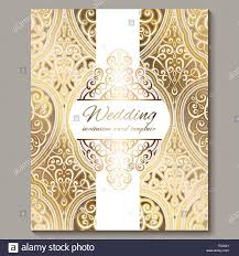 Golden Invitation Card Design Wedding Invitation Card With Gold Shiny Eastern And Baroque