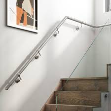 Metal handrails for stairs Stainless Steel Wall Mounted Handrails Bq Stairs And Stair Parts