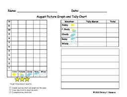 Bar Chart Of Weather Monthly Weather Graphs And Tally Charts Includes Writing