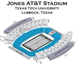 Texas Tech Jones Stadium Seating Chart Jones At T Stadium Texas Tech Football Stadium Stadiums