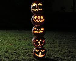 Outdoor Plastic Light Up Pumpkins How To Make A Pumpkin Totem Pole For Halloween How Tos Diy