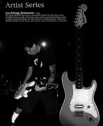 the stratocaster since 2000 fender guitarchive listing for the tom delonge stratocaster in the 2003 fender catalog the unusual single