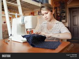 Fashion Designer Part Time Job Young Woman Sewing Sew Image Photo Free Trial Bigstock