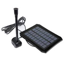 Solar Water Pump Kit With Led Lights Us 28 69 30 Off 7v 1 2w Led Light Solar Panel Water Pump Kit Pool Garden Pond Submersible Solar Powered Fountain With Built In Battery In Water