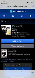 Dying Light Playstation 4 Store Playstation Fans In North America Prepare For The Winter