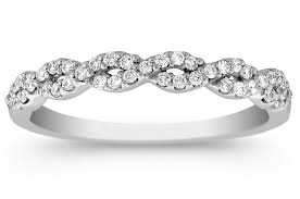 infinity diamond wedding band. infinity diamond wedding ring in 14k white gold band e