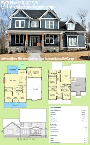 Architectural Designs Craftsman House Plan 500007VV has a sturdy front  porch with stone and timbers.