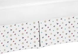 sailboat anchors crib bed skirt