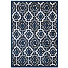 kalinda rustic vintage moroccan trellis 8x10 area rug in ivory moroccan blue and brown