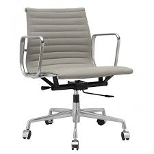eames reproduction office chair. grey leather give this maxwell blake eames office chair replica added style also available in reproduction