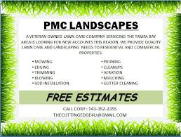 lawncare ad free landscaping flyer templates to power lawn care businesses