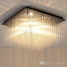 new design modern led rectangle crystal chandeliers light square chandelier lightings for living room bedroom guest room hotel room led ceiling crystal