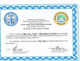 Certificate Of Completion Ojt Template Cool Sample Certificate Of