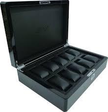 high gloss black carbon fiber wooden watch box for men view watch high gloss black carbon fiber wooden watch box for men