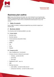 Business Plan Outline Pdf