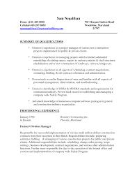 Sample Resume For Construction Worker Resume For Study