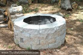 diy inexpensive firepit 1 easy diy fire pit area i13 area