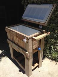 rustic pallet furniture. diy rustic outdoor pallet cooler furniture