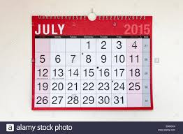 Wall Calendar For Month Of July 2015 Stock Photo 81705684 Alamy